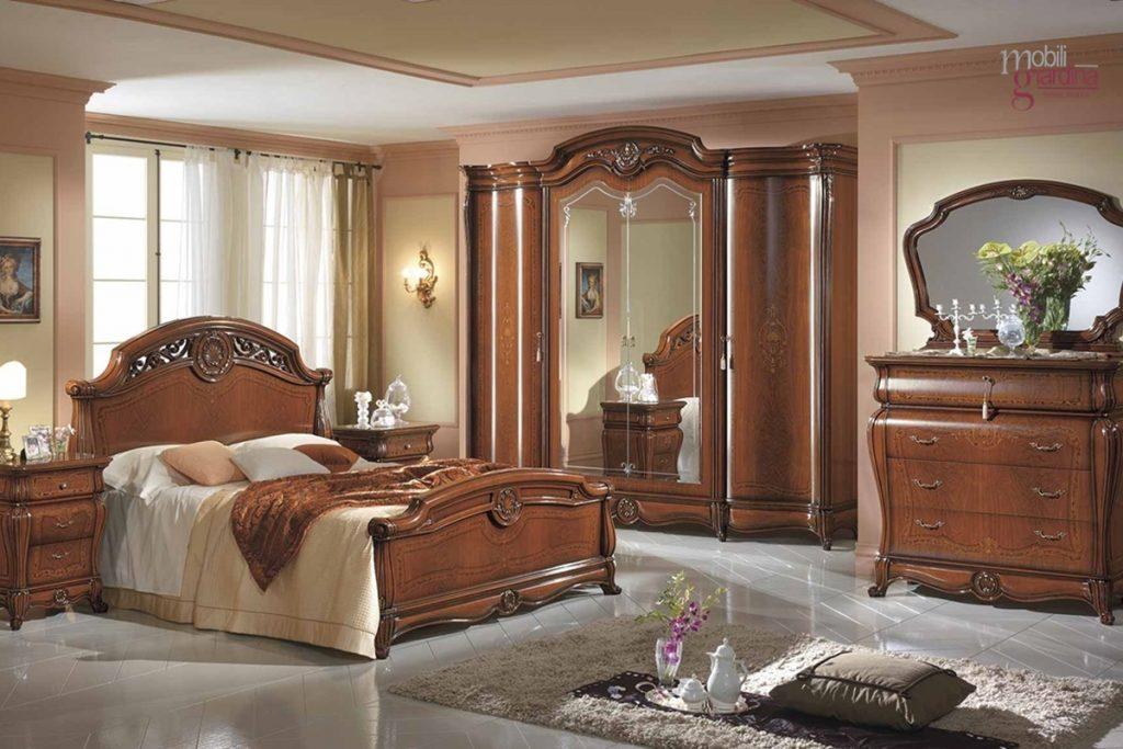 Camera da letto mobilpiu 39 ducale noce arredamento a for Marche mobili camere da letto