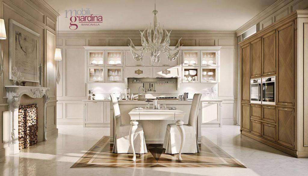Cucina classica arcari taormina arredamento a catania per la casa e ufficio mobili giardina - Arredamento cucina classica ...