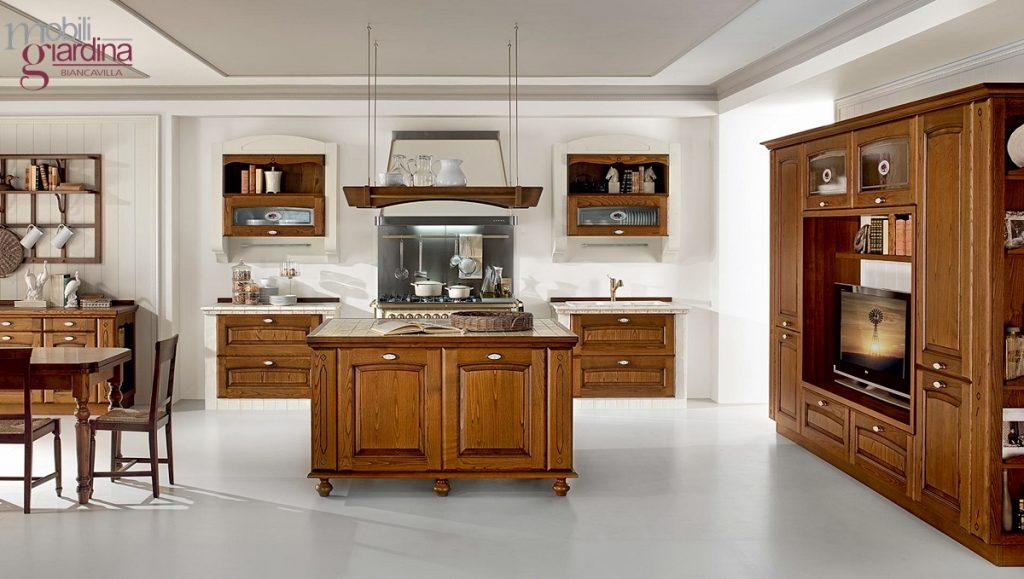 Cucina classica lube veronica arredamento a catania per la casa e ufficio mobili giardina - Cucina lube classica ...
