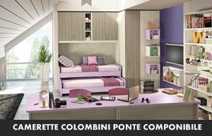 CAMERETTE COLOMBINI ERESEM PONTE COMPONIBILE | Arredamento a Catania ...