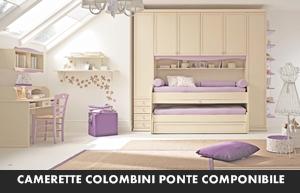 CAMERETTE COLOMBINI ARCADIA PONTE COMPONIBILE | Arredamento ...
