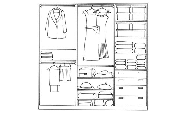 Come organizzare la cabina armadio per lei e per lui for Piani cabina 4 camere da letto