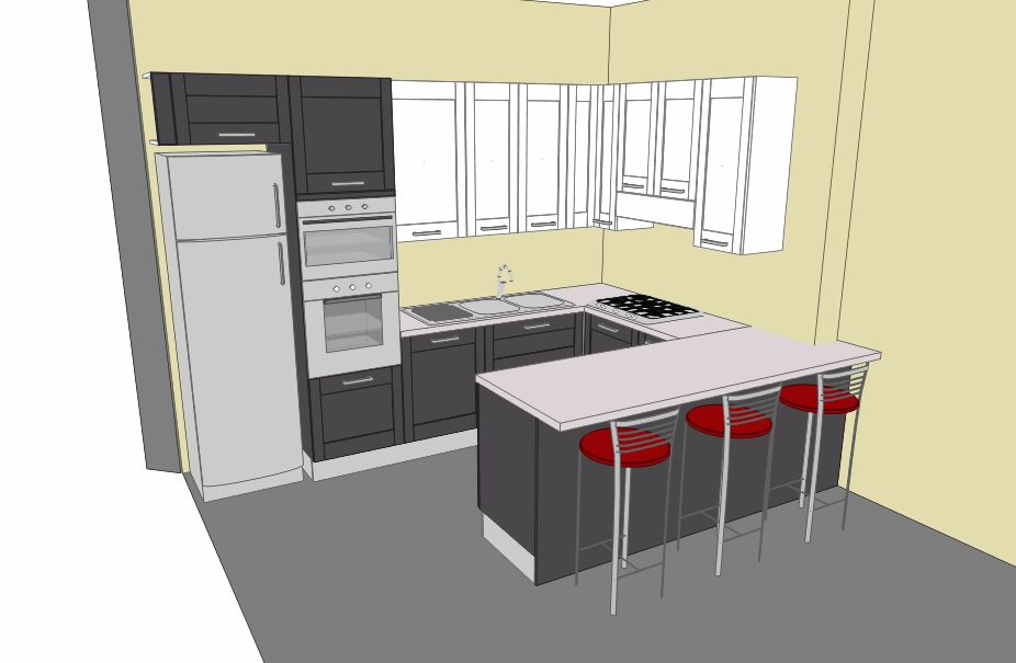 Arredamento cucine catania quando lo spazio ridotto - Come progettare una cucina ad angolo ...