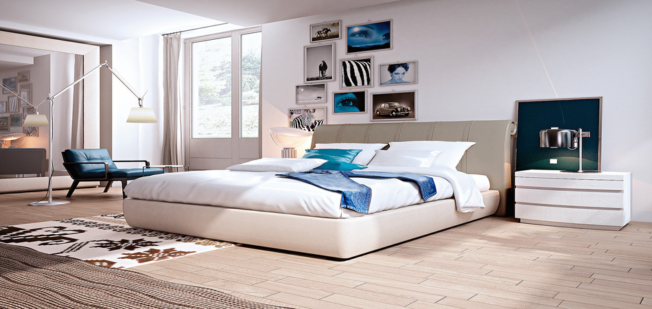 letto MRILYN TESTATA ECOPELLE RIGHE 11
