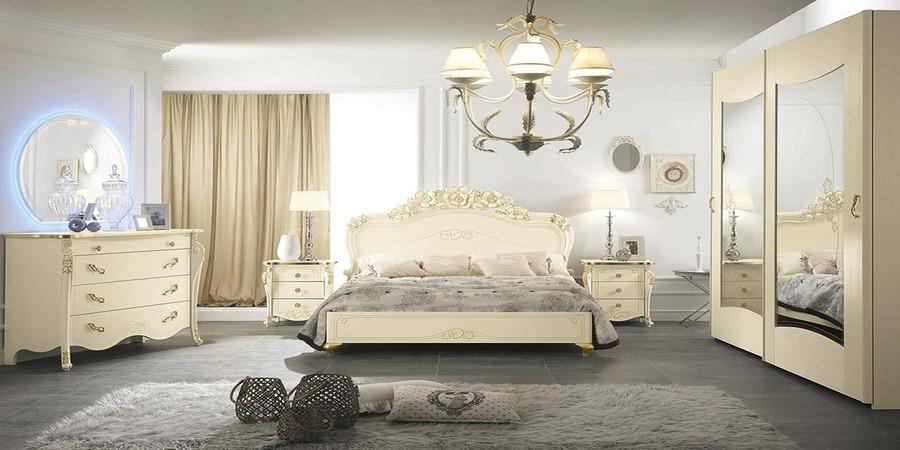 Camera da letto Viola colore Beige di Mobilpiu 01