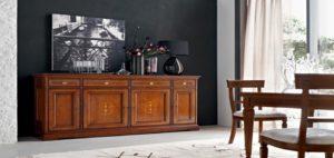 LeFablier I Ciliegi credenza Genziana soggiorno pranzo classico legno tv arredamento interni mobili righetti novara
