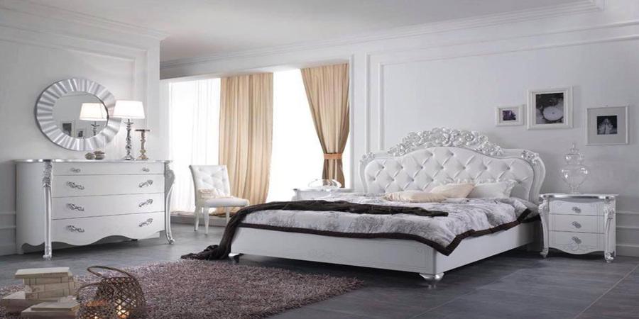 Viola camera letto matrimoniale charm bianca mobili sparaco 01