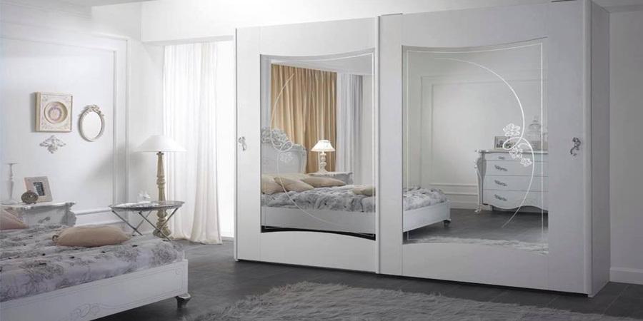 Viola camera letto matrimoniale charm bianca mobili sparaco 02