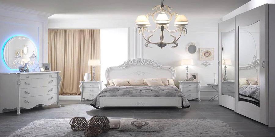 Viola camera letto matrimoniale charm bianca mobili sparaco 03