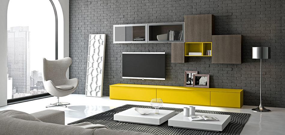 soggiorno moderno 3d colorato