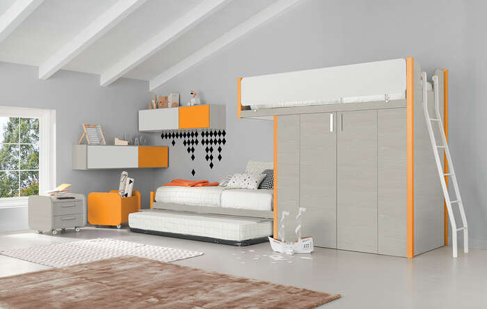 Colombini Casa Cameretta Golf Happy letto con scalette 165 a