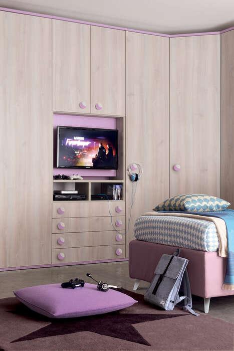 Colombini Casa Cameretta Golf armadio con anta tv 090