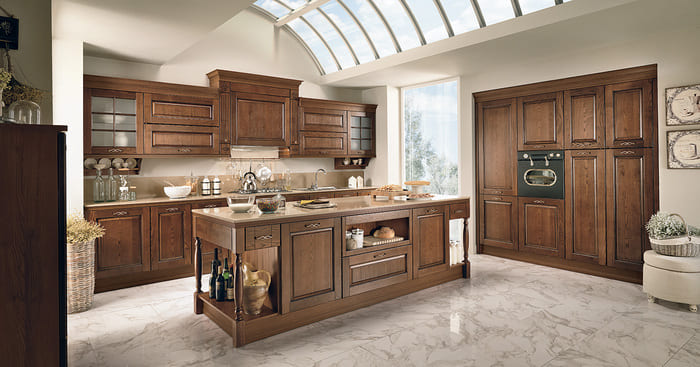 Colombini Casa Cucina Classica Armonia con isola in legno 53