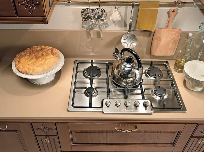 Colombini Casa Cucina Classica Armonia con isola piano cottura classico 60a