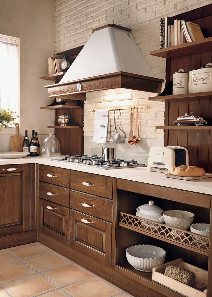 Colombini Casa Cucina Classica Armonia lineare cappa tradizionale 36