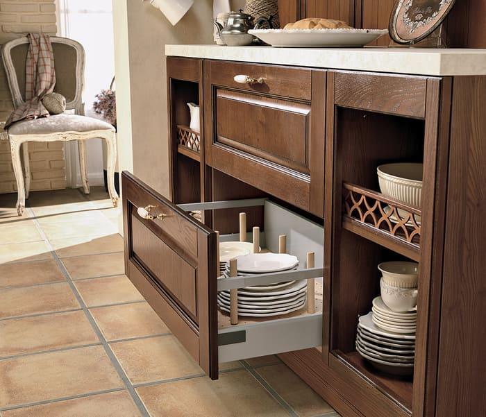 Colombini Casa Cucina Classica Armonia lineare cassetto profondo pentole 30b