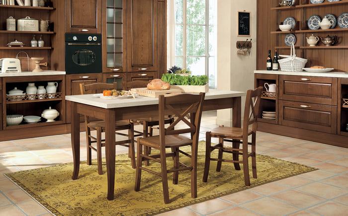 Colombini Casa Cucina Classica Armonia lineare con tavolo e sedie abbinate 43