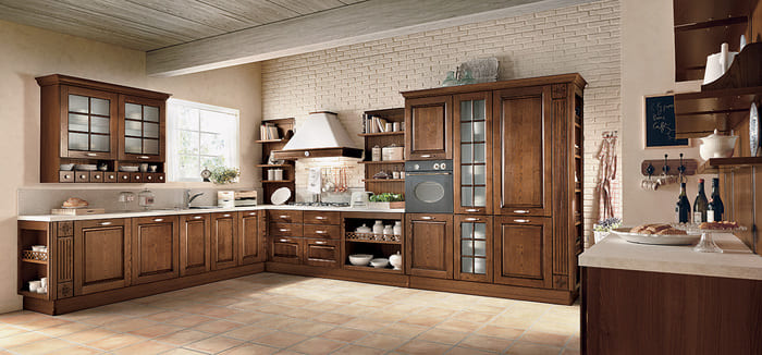Colombini Casa Cucina Classica Armonia lineare in legno pregiato 32 33
