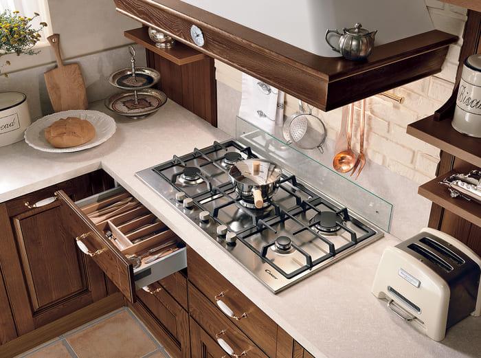 Colombini Casa Cucina Classica Armonia lineare piano cottura tradizionale 37b