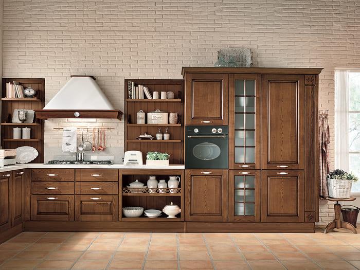 Colombini Casa Cucina Classica Armonia lineare sportelli con vetri 35