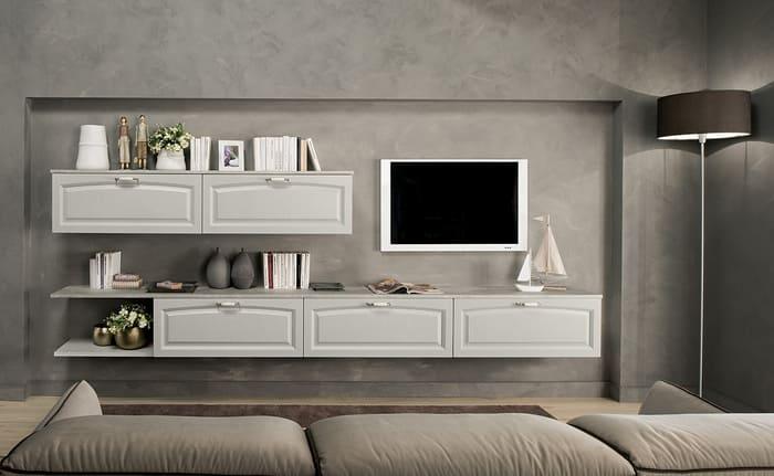 Colombini Casa Cucina Classica Mida abbinata con mobile tv 123a