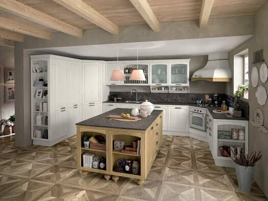 Colombini Casa Cucina Classica Mida bianca e rovere 64