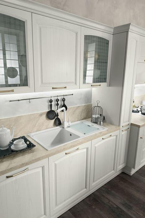Colombini Casa Cucina Classica Mida bianco naturale con venature 30b