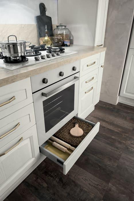 Colombini Casa Cucina Classica Mida cassetti senza maniglia 30a