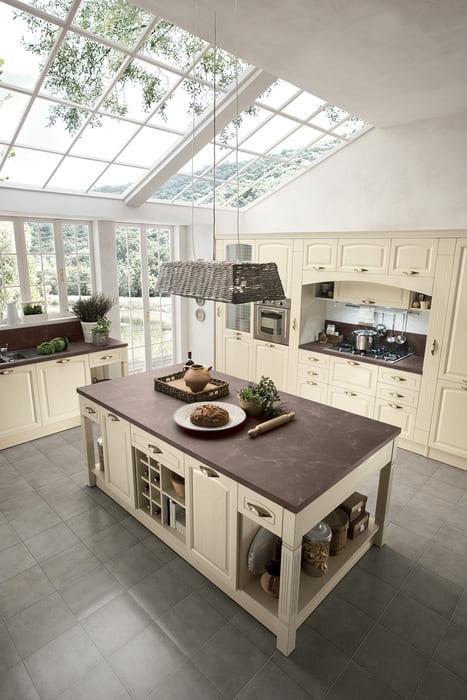 Colombini Casa Cucina Classica Mida con isola in stile classico 55