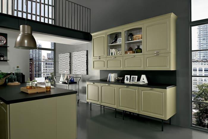 Colombini Casa Cucina Classica Mida in stile industriale 105a