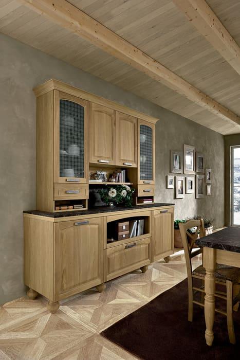 Colombini Casa Cucina Classica Mida madia con vetrina 72