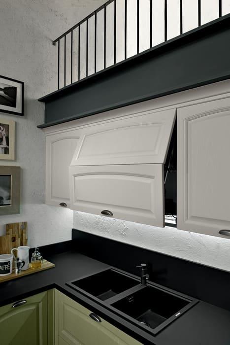 Colombini Casa Cucina Classica Mida pensili bianco naturale 107b