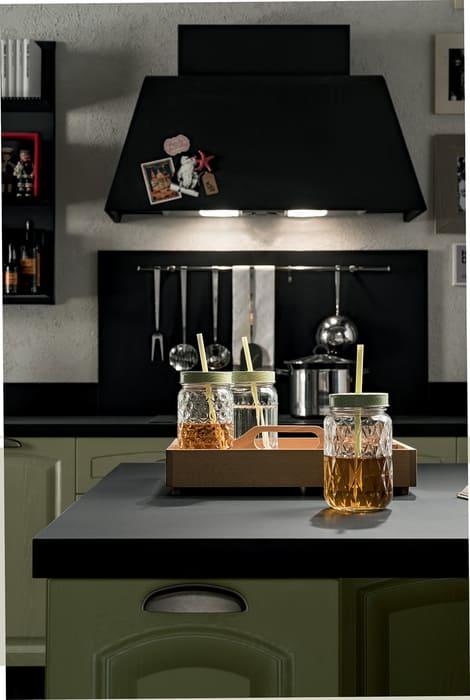 Colombini Casa Cucina Classica Mida piano nero sportello verde 101