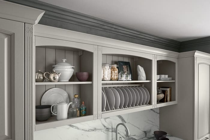 Colombini Casa Cucina Classica Mida portapiatti a vista 19a