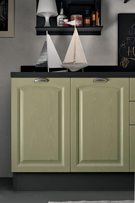Colombini Casa Cucina Classica Mida sportello bugnato verde 104b