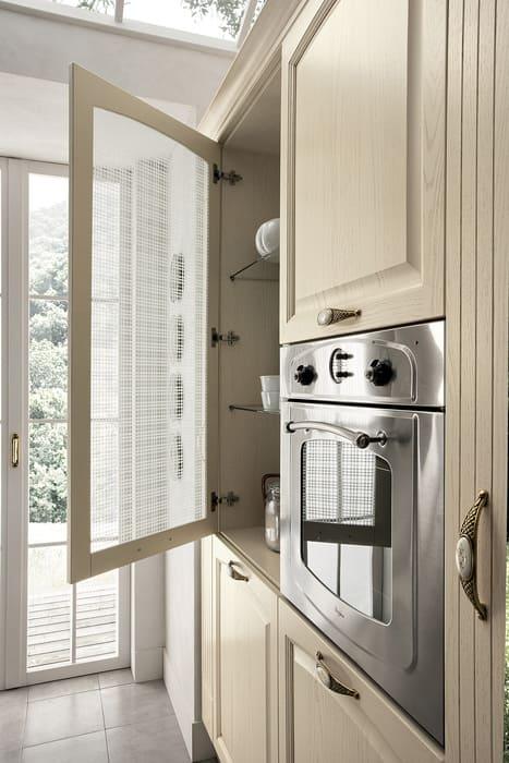 Colombini Casa Cucina Classica Mida sportello con vetro decorato 49a