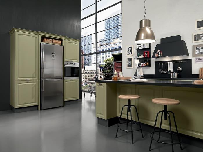 Colombini Casa Cucina Classica Mida stile industriale 105b