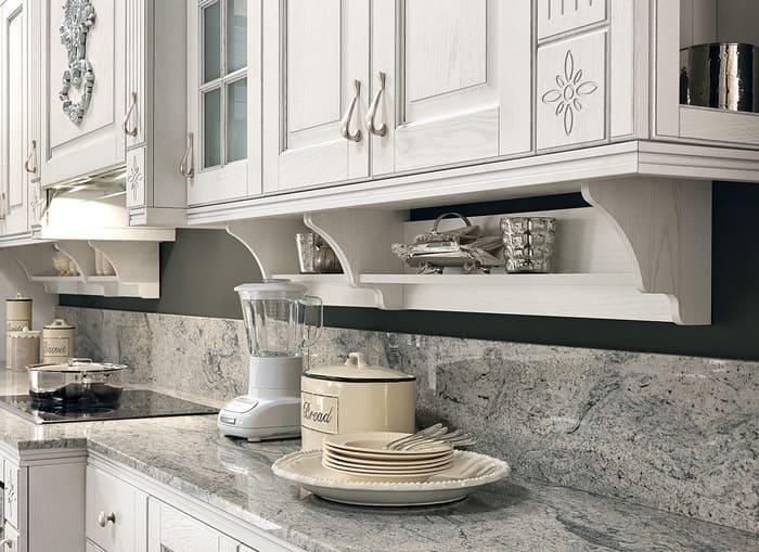 Colombini Casa Cucina Classica Opera4 mensola top marmo 82a