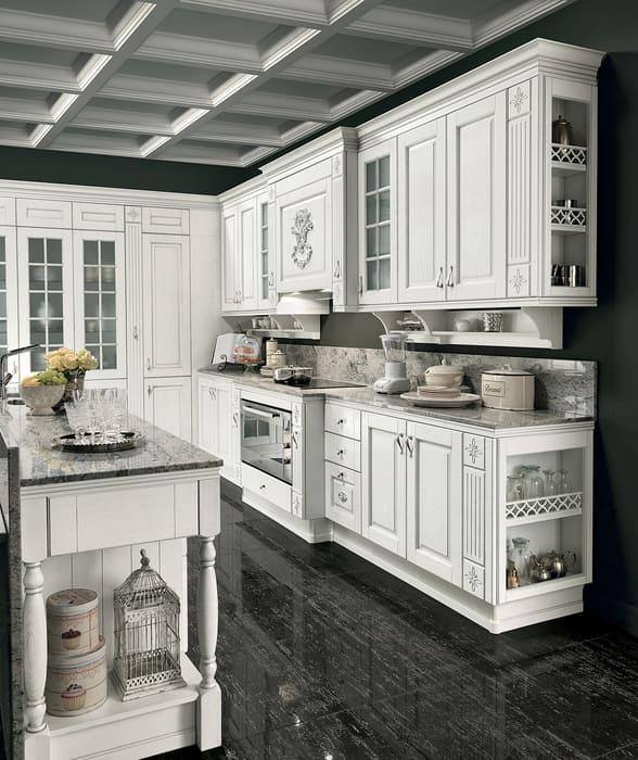 Colombini Casa Cucina Classica Opera4 top marmo isola 78b