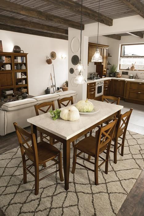 Colombini Casa Cucina Classica Sinfonia abbinata a tavolo e sedie 19