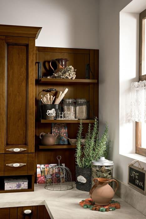Colombini Casa Cucina Classica Sinfonia mensole in legno 16a 1