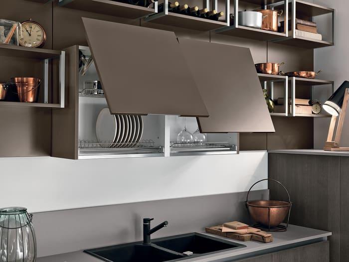 Colombini Casa Cucina Moderna Essenza ante con vasistas 51C