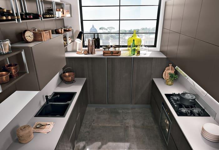 Colombini Casa Cucina Moderna Essenza bianca e moka 48