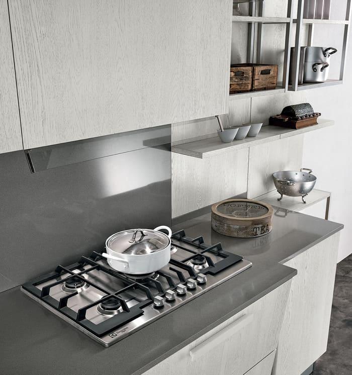 Colombini Casa Cucina Moderna Essenza cappa integrata sportello 14