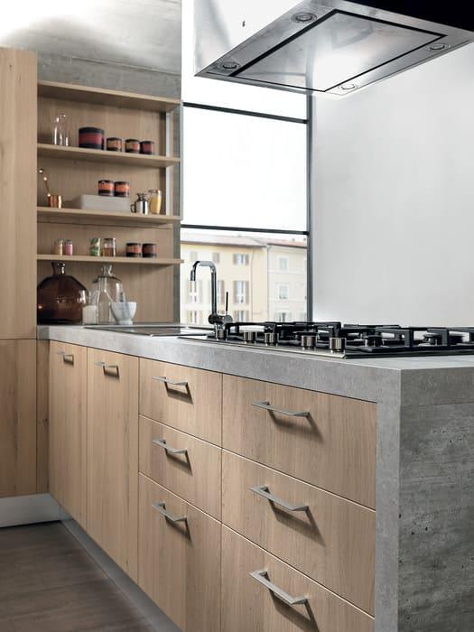 Colombini Casa Cucina Moderna Essenza casetti con maniglia 35