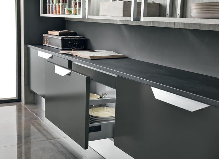 Colombini Casa Cucina Moderna Essenza cassetti ampi e funzionali 93B