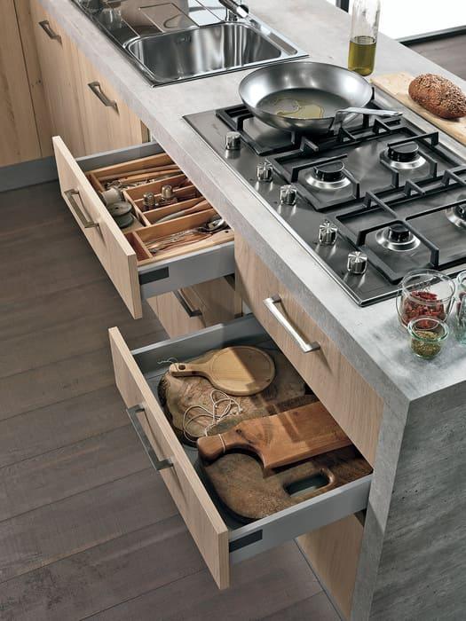 Colombini Casa Cucina Moderna Essenza cassetto porta posate 39A