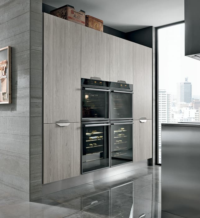 Colombini Casa Cucina Moderna Essenza colonna forno con venature 96