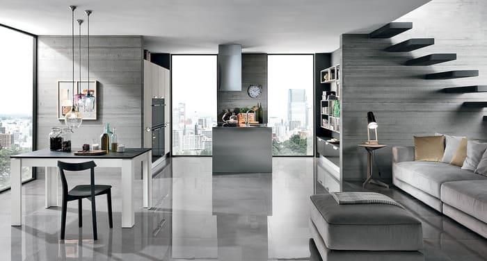 Colombini Casa Cucina Moderna Essenza composizione tipo 86 87