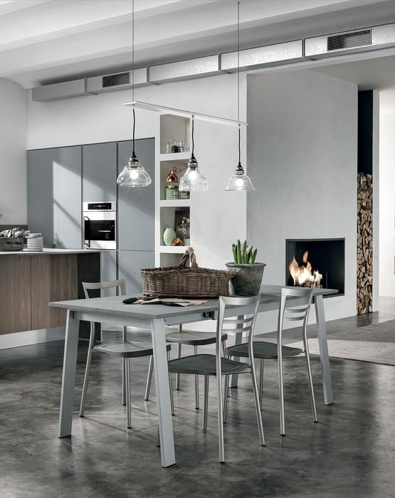 Colombini Casa Cucina Moderna Essenza con tavolo coordinato 110